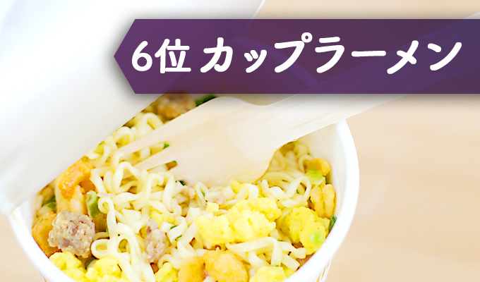 食品添加物が多い食べ物 カップラーメン