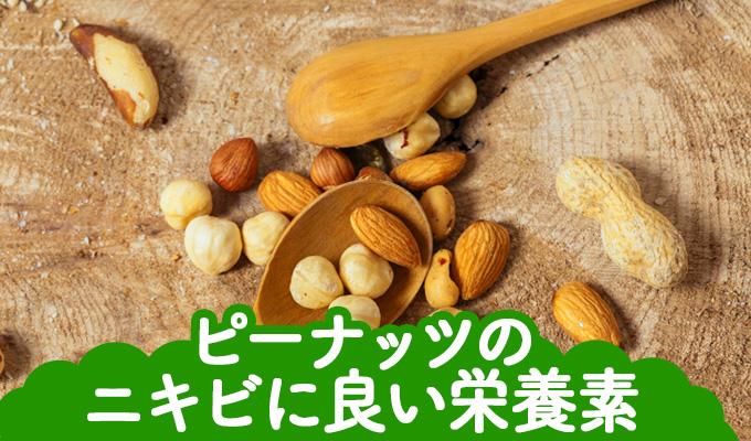 ピーナッツのニキビに良い栄養素