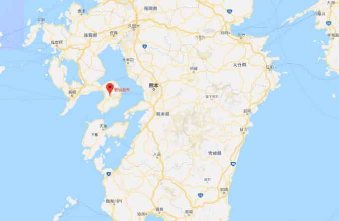 長崎県/雲仙温泉 地図