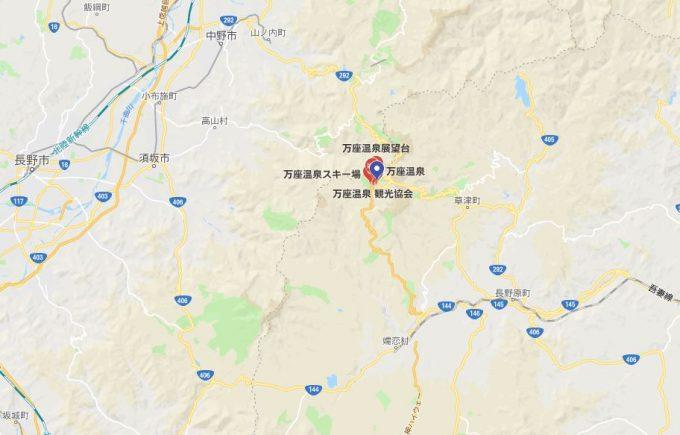 群馬県/万座温泉 地図