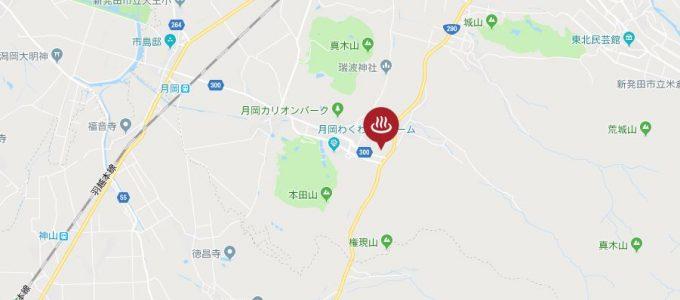 月岡温泉 地図