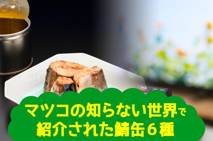 マツコの知らない世界で紹介された鯖缶6種